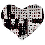 Abstract city landscape Large 19  Premium Heart Shape Cushions Back