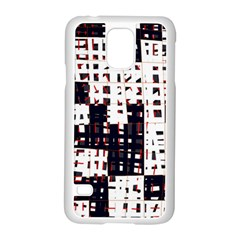 Abstract City Landscape Samsung Galaxy S5 Case (white) by Valentinaart