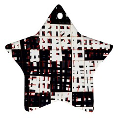 Abstract City Landscape Star Ornament (two Sides)  by Valentinaart