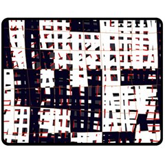 Abstract City Landscape Fleece Blanket (medium)  by Valentinaart