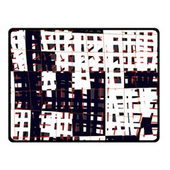Abstract City Landscape Fleece Blanket (small) by Valentinaart