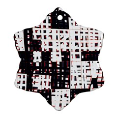 Abstract City Landscape Snowflake Ornament (2 Side) by Valentinaart