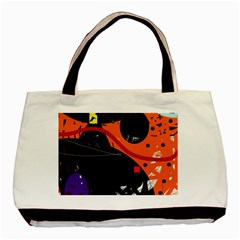 Orange Dream Basic Tote Bag (two Sides) by Valentinaart