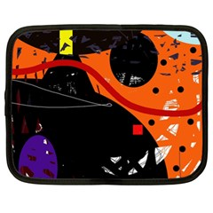 Orange Dream Netbook Case (xl)  by Valentinaart