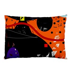 Orange Dream Pillow Case (two Sides) by Valentinaart
