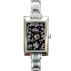 Elegant Puzzle Rectangle Italian Charm Watch by Valentinaart