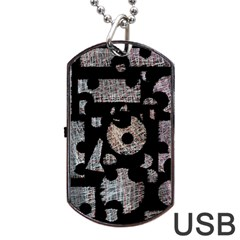 Elegant Puzzle Dog Tag Usb Flash (one Side) by Valentinaart