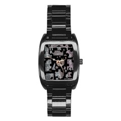 Elegant Puzzle Stainless Steel Barrel Watch by Valentinaart