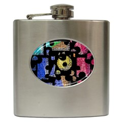 Colorful Puzzle Hip Flask (6 Oz) by Valentinaart