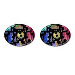 Colorful Puzzle Cufflinks (oval) by Valentinaart
