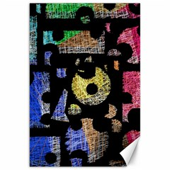 Colorful Puzzle Canvas 20  X 30   by Valentinaart