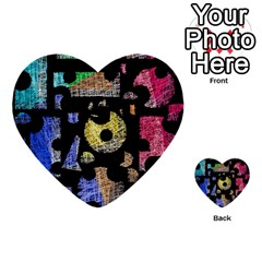 Colorful Puzzle Multi Purpose Cards (heart)  by Valentinaart