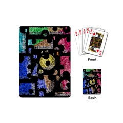 Colorful Puzzle Playing Cards (mini)  by Valentinaart