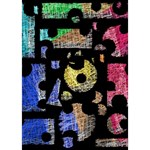 Colorful puzzle TAKE CARE 3D Greeting Card (7x5) Inside