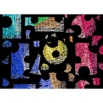 Colorful puzzle TAKE CARE 3D Greeting Card (7x5) Back