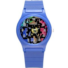Colorful Puzzle Round Plastic Sport Watch (s)