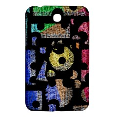 Colorful Puzzle Samsung Galaxy Tab 3 (7 ) P3200 Hardshell Case  by Valentinaart