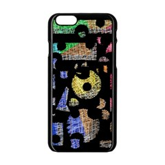 Colorful Puzzle Apple Iphone 6/6s Black Enamel Case by Valentinaart