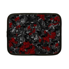Gray And Red Decorative Art Netbook Case (small)  by Valentinaart