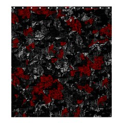 Gray And Red Decorative Art Shower Curtain 66  X 72  (large)  by Valentinaart