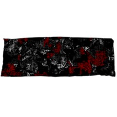 Gray And Red Decorative Art Body Pillow Case Dakimakura (two Sides) by Valentinaart