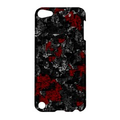 Gray And Red Decorative Art Apple Ipod Touch 5 Hardshell Case by Valentinaart