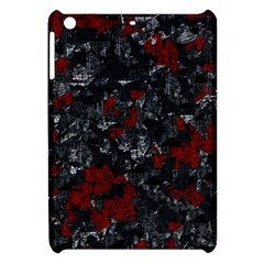 Gray And Red Decorative Art Apple Ipad Mini Hardshell Case by Valentinaart