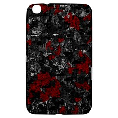 Gray And Red Decorative Art Samsung Galaxy Tab 3 (8 ) T3100 Hardshell Case  by Valentinaart