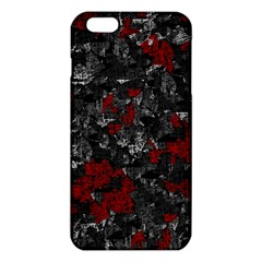Gray And Red Decorative Art Iphone 6 Plus/6s Plus Tpu Case by Valentinaart
