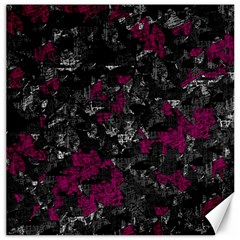 Magenta And Gray Decorative Art Canvas 20  X 20   by Valentinaart