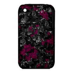 Magenta And Gray Decorative Art Apple Iphone 3g/3gs Hardshell Case (pc+silicone) by Valentinaart