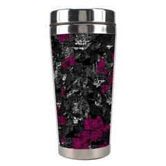 Magenta And Gray Decorative Art Stainless Steel Travel Tumblers by Valentinaart