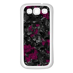 Magenta And Gray Decorative Art Samsung Galaxy S3 Back Case (white) by Valentinaart
