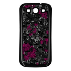 Magenta And Gray Decorative Art Samsung Galaxy S3 Back Case (black) by Valentinaart