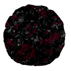 Magenta And Gray Decorative Art Large 18  Premium Flano Round Cushions by Valentinaart