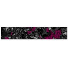 Magenta And Gray Decorative Art Flano Scarf (large) by Valentinaart