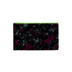 Magenta And Gray Decorative Art Cosmetic Bag (xs) by Valentinaart