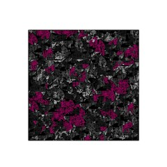 Magenta And Gray Decorative Art Satin Bandana Scarf by Valentinaart