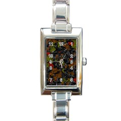 Autumn Colors  Rectangle Italian Charm Watch