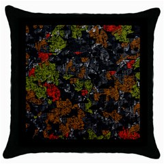 Autumn Colors  Throw Pillow Case (black) by Valentinaart
