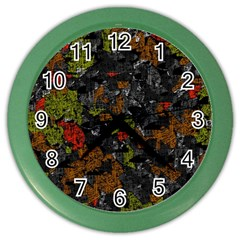 Autumn Colors  Color Wall Clocks by Valentinaart