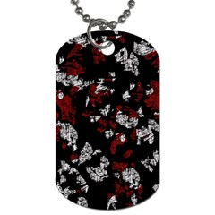 Red, White And Black Abstract Art Dog Tag (two Sides) by Valentinaart