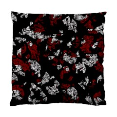Red, White And Black Abstract Art Standard Cushion Case (one Side) by Valentinaart