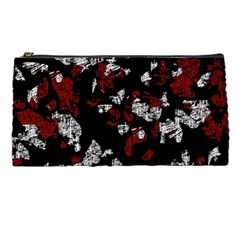 Red, White And Black Abstract Art Pencil Cases by Valentinaart