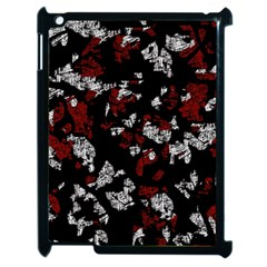 Red, White And Black Abstract Art Apple Ipad 2 Case (black) by Valentinaart