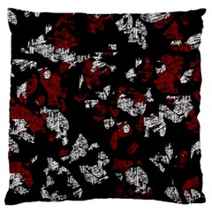 Red, White And Black Abstract Art Large Cushion Case (one Side) by Valentinaart