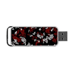 Red, White And Black Abstract Art Portable Usb Flash (one Side) by Valentinaart