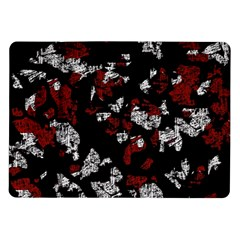 Red, White And Black Abstract Art Samsung Galaxy Tab 10 1  P7500 Flip Case