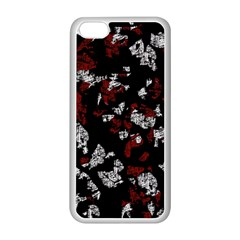 Red, White And Black Abstract Art Apple Iphone 5c Seamless Case (white) by Valentinaart