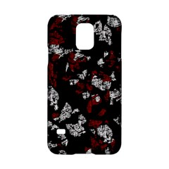 Red, White And Black Abstract Art Samsung Galaxy S5 Hardshell Case  by Valentinaart